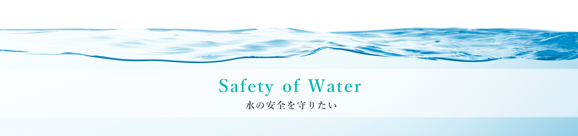 Safety of Water 水の安全を守りたい